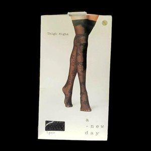 A New Day Thigh Highs Size M/L Floral One Pair